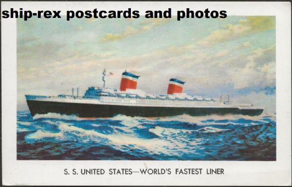 UNITED STATES 1952 United States Lines postcard h3